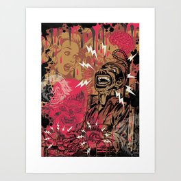 SHOCKING TERRORS Art Print