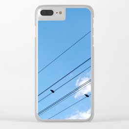 Bird on a wire no.1 Clear iPhone Case