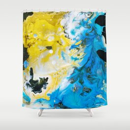 Island in the Sea near Vancouver Island Shower Curtain