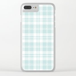 Cozy Plaid in Mint Clear iPhone Case