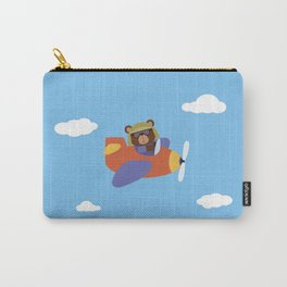 Bear in Airplane Carry-All Pouch