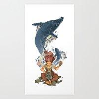Ocean in a Bottle Art Print