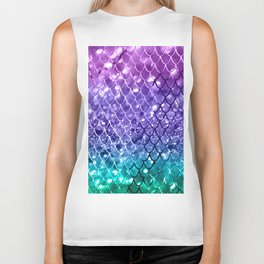 Mermaid Scales on Unicorn Girls Glitter #19 #shiny #decor #art #society6 Biker Tank