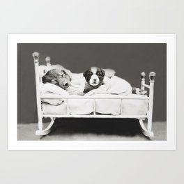Harry Whittier Frees - Puppy With Insomnia Art Print