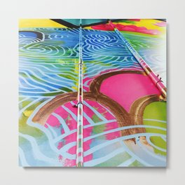 Teneo Mural Pink Scales Metal Print