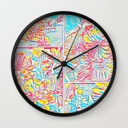 Crayon Collage Wall Clock