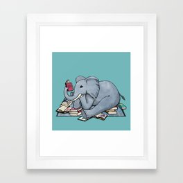 The Best Thing About Rainy Days Framed Art Print