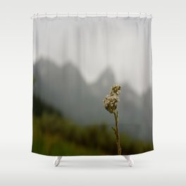 Flower and the Tetons Shower Curtain
