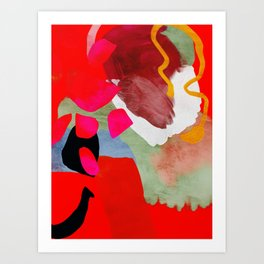 phantasy in red abstract Art Print