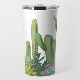 Milagritos Cacti on white background. Travel Mug