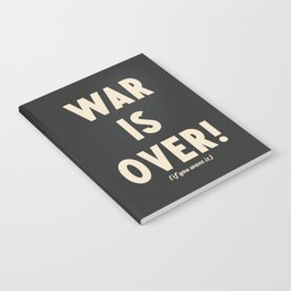 War is over!, if you want it, vintage art, peace, Yoko Ono, Vietnam War, civil rights Notebook