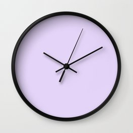 Pastel Purple - Lilac - Lavender - Solid Color Wall Clock