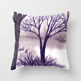 One Misty Morning... Throw Pillow