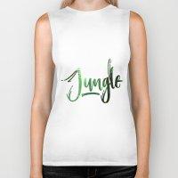 jungle Biker Tanks featuring Jungle by Insait disseny