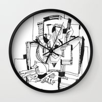 fifth element Wall Clocks featuring The Fifth by 5wingerone