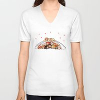 nori V-neck T-shirts featuring Company cuddlepile by quelm