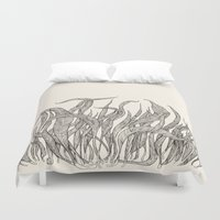 leaf Duvet Covers featuring LEAF by auntikatar
