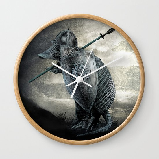 Armadillo by Eric Fan & Viviana Gonzalez Wall Clock