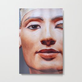 The Face of Nefertiti Metal Print