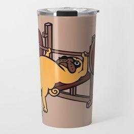 Pug Bench Press  Travel Mug