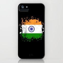 India Music Flag iPhone Case
