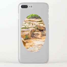 Beautiful sandstone view Clear iPhone Case