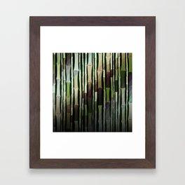 Modern Rustic Bamboo Garden  Framed Art Print