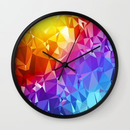 Rainbow Prism Wall Clock