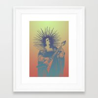psych Framed Art Prints featuring V - Psych by ochre7