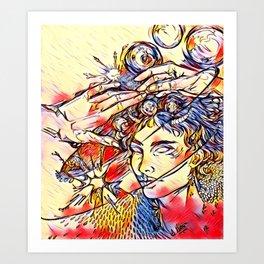 Devil's Caress Art Print