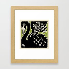 Black Swan 123 Framed Art Print