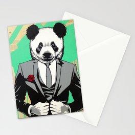 Panda Head Stationery Cards