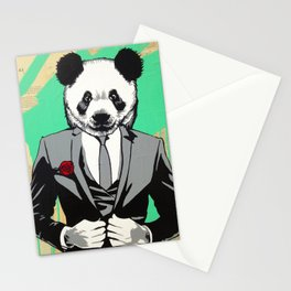 Panda Head Stationery Cards