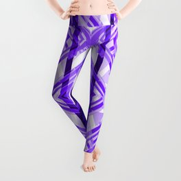 Tribal Purple Geometric Leggings