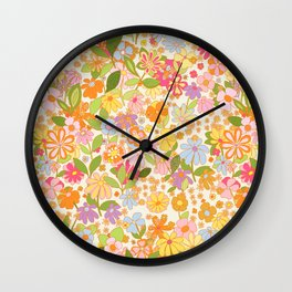 Nostalgia in the garden Wall Clock