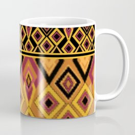 Yellow plaid. The creative pattern . Coffee Mug