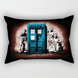 Tardis In The Dark Shadow Rectangular Pillow