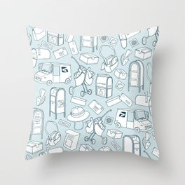 Tools of the Postal Worker Throw Pillow