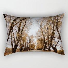 Autumn Tree Tunnel Rectangular Pillow