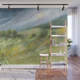 Precious Green Watercolor Landscape Wall Mural