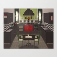 kitchen Canvas Prints featuring Kitchen by Fran Court