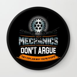 Mechanic Technician Engineering Auto-Mechanic Gift Wall Clock