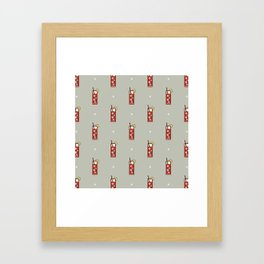 Mixed Pattern - Icon Prints: Drinks Series Framed Art Print