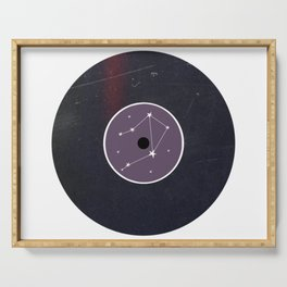 Vinyl Record Star Sign Art | Libra Serving Tray