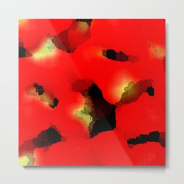 strawberry abstract Metal Print