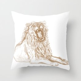 Back, Off Please Throw Pillow