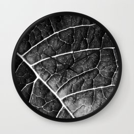LEAF STRUCTURE no2a BLACK AND WHITE Wall Clock