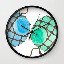 Glass Floats Wall Clock