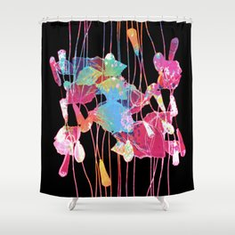 festive abstract bouquet with light Shower Curtain