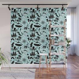 High Seas Adventure // Teal Waves Wall Mural